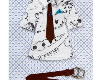 Card all occasion shirt, tie, belt