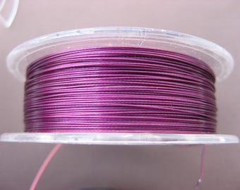 3 m cable wire wrapped amethyst 0.45 mm