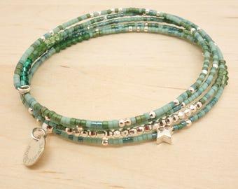 Bracelet Miyuki beads and 925 sterling silver