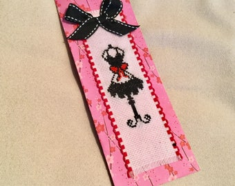Bookmark embroidered my little black dress.