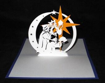 Christmas star Magi 3D card