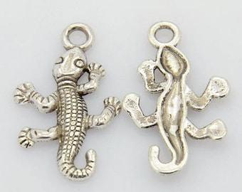 set of 10 charms pendant charm bead animal lizard new scrapbooking