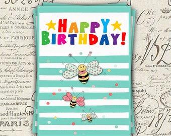 Birthday card, size 10 x 14 cm