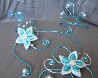 Turquoise and silver aluminum wire jewelry
