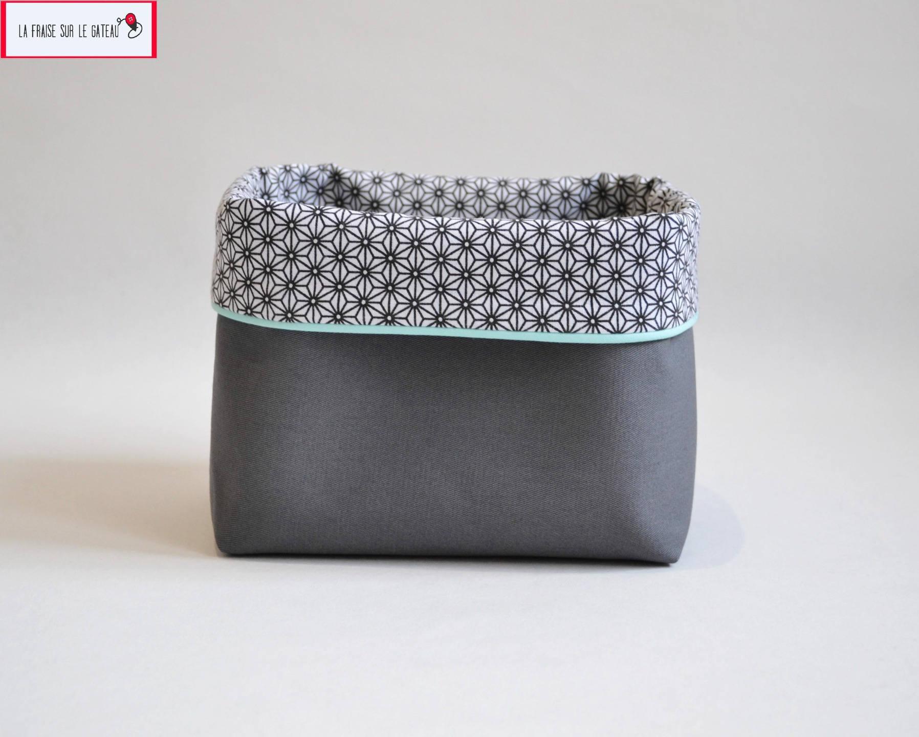 corbeille panier de rangement vide poche cache pot en. Black Bedroom Furniture Sets. Home Design Ideas