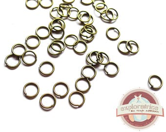 200 jump rings 6mm brass Bronze