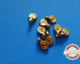 8 round charms Golden ethnic 5x8mm
