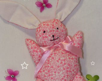 Pink liberty Bunny blanket