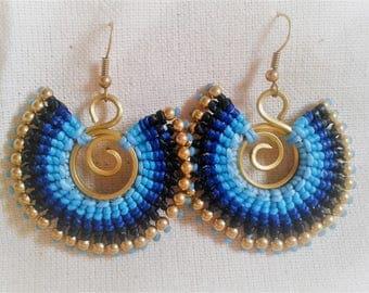 Earrings blue tresees