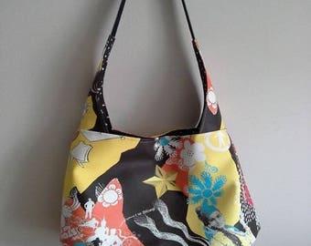 Colorful leather handbag