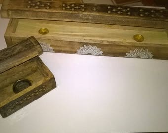 (89) set of 2 boxes for incense