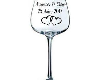 10 personalized stickers to stick on wedding wine glass