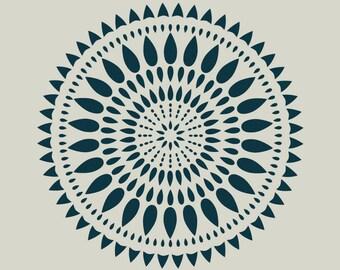 Rosette. Rose stencil. (Ref 383) adhesive vinyl stencil