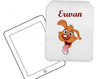 Cover for tablet pc dog personalized with name