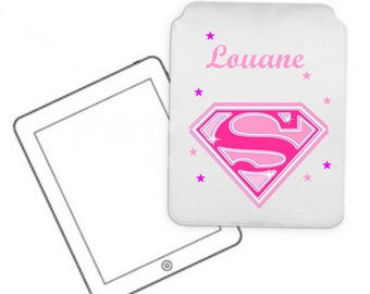 Cover for tablet pc Supergirl personalized with name