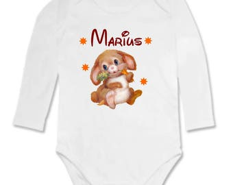 Bunny Bodysuit personalized with name