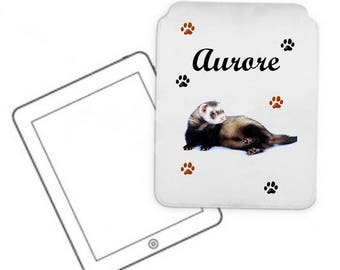 Cover for tablet pc ferret personalized with name