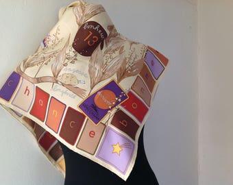 vintage scarf, Longchamp, late 20 century