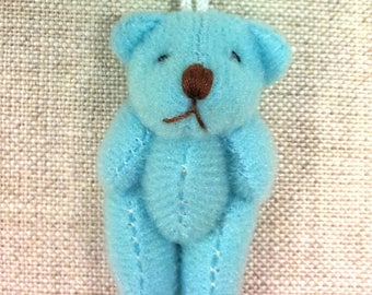 Charm mini Teddy bear 14 T - light blue