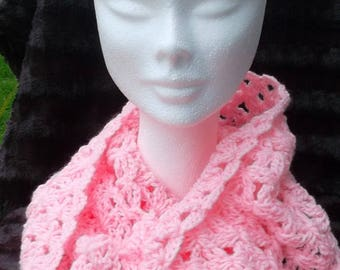 """Cotton candy"" Snood crochet openwork"