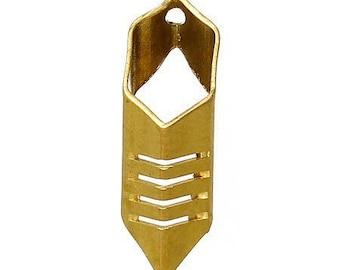 4 pendants, great earrings in copper, 18 * 6mm hexagonal shape