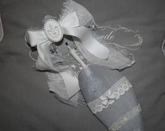 Vintage Shabby chic style wooden shoe