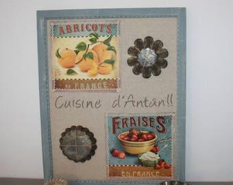 Old kitchen theme wooden frame