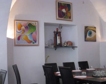 Photo of interia of a pizza restaurant in San Donato village near Florence Italy