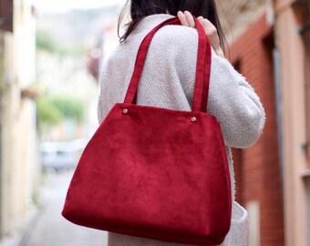 """Burgundy Red handbag """"Jill"""""""