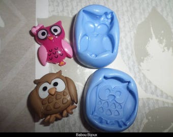 Special offer! Set two owls for your creations of fimo 2 cm
