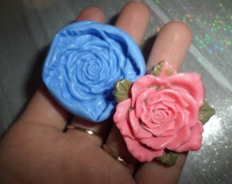 Very large detailed mold rose 4cm for polymer clay! new!