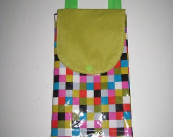 """Bag for gym slippers """"follies of small squares"""""""