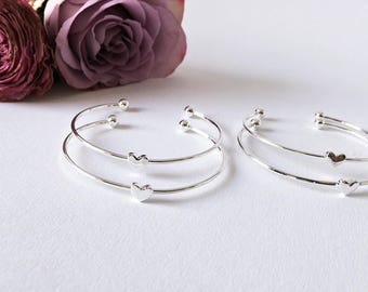 4x Bridesmaids gift Bracelet Silver