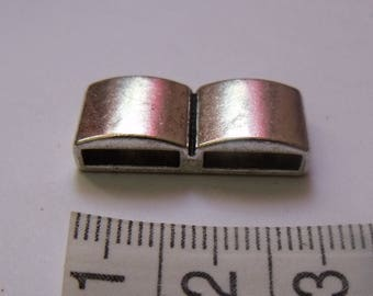 Silver bead spacer metal 2 hole flat