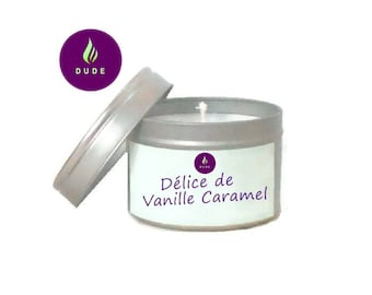 Scented delight vegetable wax, natural candle, personalised candle, candle Vegan Caramel vanilla,