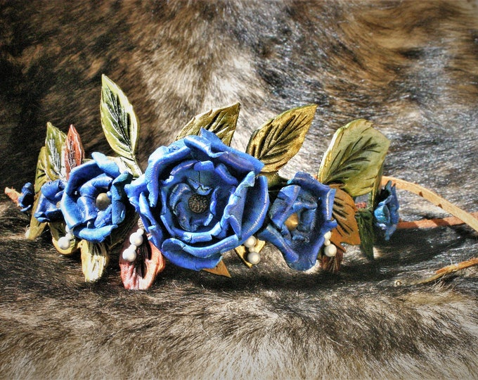 Crown of blue roses headband Lyanna Stark Game of thrones cosplay wedding Winter is coming