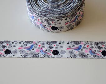"Ribbon grosgrain ""CHEEP CHEEP"" VINTAGE""22mm"