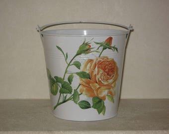 Free shipping! pink orange flower pot