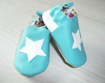 Size 20 star white booties