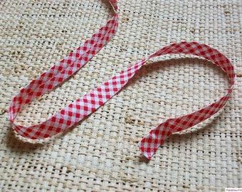 Bias fancy 16mm cotton gingham pattern
