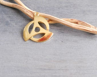 Gold sharingan pendant