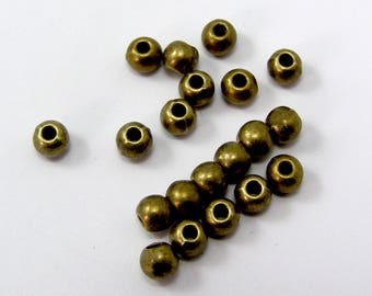 Bronze separator beads 4.5 mm hole 1.5 mm set of 25