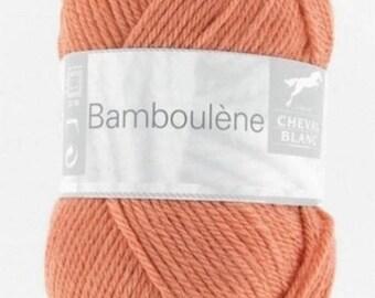 natural thread knitting BAMBOULENE flesh color No. 164 white horse