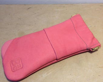 """Leather glasses case """"candy pink"""""""