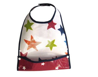 Star bib oilcloth with pattern system