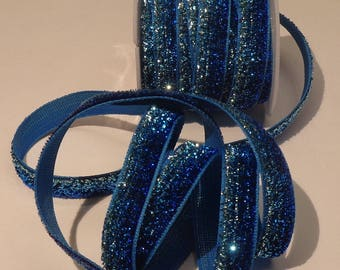turquoise polyester in 1 meter Ribbon