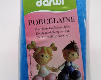 "Darwi porcelaine 150g ""porcelaine froide"" turquoise"