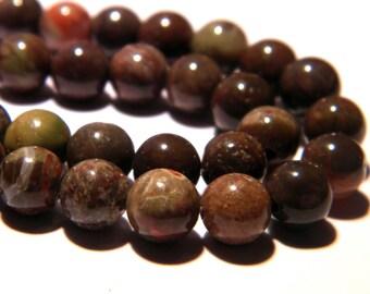 10 Pearl Oceania shiny 6 mm - natural Jasper - gemstone fine PG294 6