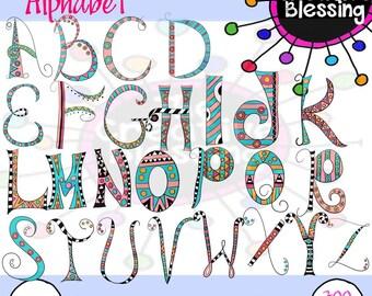 Hand Drawn Doodle Letters Alphabet Clip Art