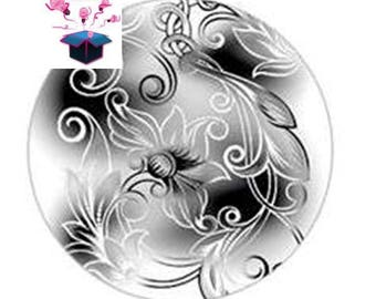 1 cabochon clear 25 mm theme black shade